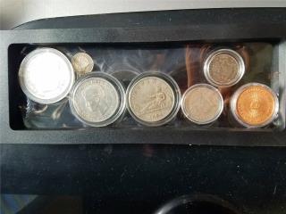 Set 8 Monedas de Puerto Rico Antiguas, Puerto Rico
