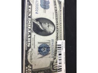 Billete 10 dolares 1934 mule variety, Puerto Rico
