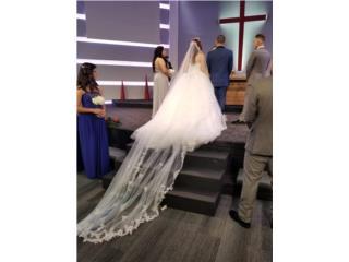 Velo de novia tipo catedral D royal bride, Puerto Rico