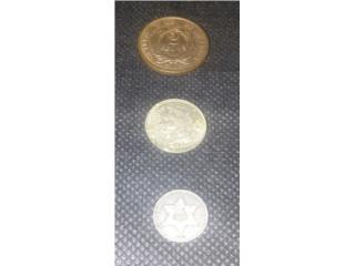 Monedas US 2 y 3 Centavos, Puerto Rico