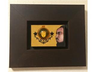 """PINTURA:""""EL ESPEJO"""" (4""""x5"""") NÉSTOR MILLÁN-$450, Puerto Rico"""