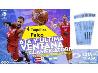 Taquillas Palco para juegos FIBA Arg y Uru, Puerto Rico