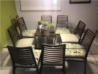 Juego de Comedor - 8 sillas , Puerto Rico