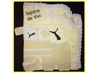 Set tejido de varon, amarillo, Puerto Rico