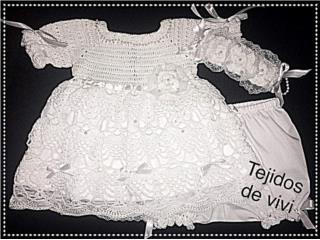 Set tejido de nena, blanco, Puerto Rico