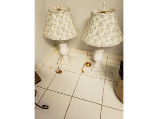 2 lamparas de mesa, Puerto Rico
