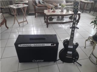 Guitara epiphone lp custum y carvin tubo 2-12, Puerto Rico