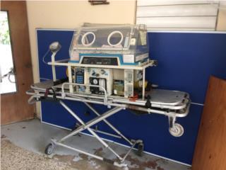 Incubadora de transporte,con Camilla de ambulancia, Puerto Rico