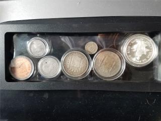 Set 7 monedas de PR  antiguas 1890-97, Puerto Rico