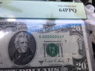 Billete de 20 dólares cerie00000003, Puerto Rico
