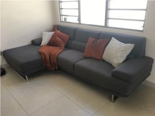 Sofá Chaise tela gris, Puerto Rico