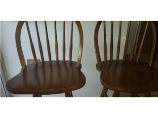 Stool wood chairs, Puerto Rico