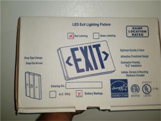 Lampara de salida. :Led Exit Lighting Fixture, Puerto Rico