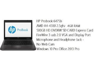 HP ProBook 6475B, Puerto Rico