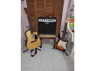Set de guitarras y amplificador, Puerto Rico