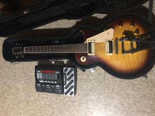guitarra elc xavier con bisby y pedalera , Puerto Rico