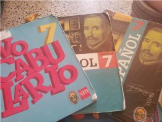 3 libros de español 7 grado , Puerto Rico