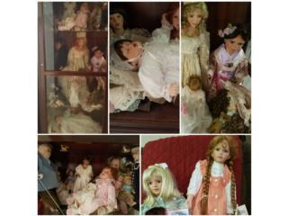 Curio con muñecas de porcelana, Puerto Rico