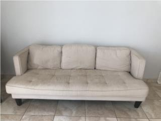 Mueble blanco en tela para sala o family, Puerto Rico