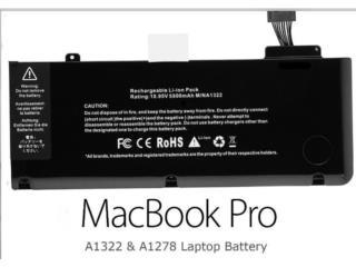 BATERIA PARA MacBook 13 inc Pro A1322 , Puerto Rico