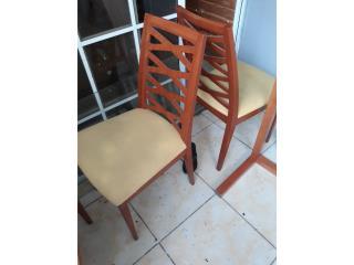 6 sillas comedor $5c/u, Puerto Rico