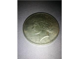 Peace dollar plata 1923, Puerto Rico