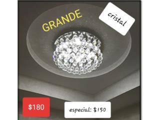 GALERIA JY - LAMPARA GRANDE CRISTAL MODERNA $180, Puerto Rico