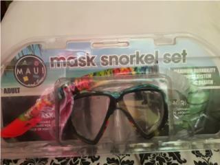 Máscara y Snorkel Marca MAUI, Puerto Rico