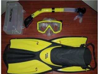 Set snorkel, chapaletas, máscara panorámica , Puerto Rico