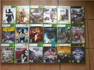 JUEGOS DE Xbox Y XBOX 360 A $10 CADA UNO, Puerto Rico