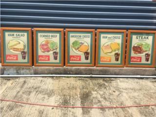 Vintage Coca Cola cardboard signs, Puerto Rico
