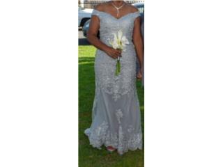 Hermoso Vestido de Novia color Gris, Puerto Rico