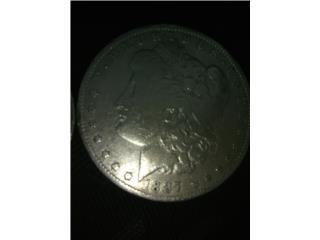 Dólar de Morgan 1887 plata, Puerto Rico