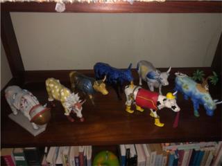 **7 figuras d vacas COW PARADE coleccionistas**, Puerto Rico