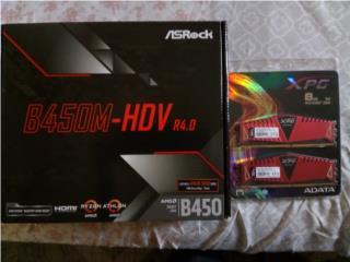 150 $nuevo Motherboard y Memoria 16 GB DDR4-3000 , Puerto Rico