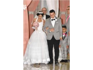 Vendo traje de novia con su velo y tres enag, Puerto Rico