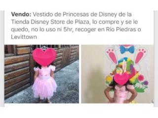 Traje original de Princesa Disney Store, Puerto Rico