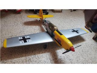 Messerschmit 109 con O.S. 46 y servos Futaba, Puerto Rico