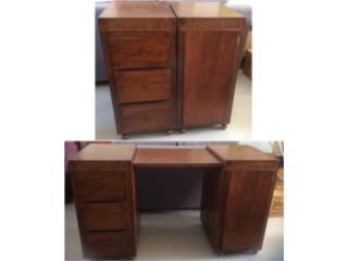 Mueble COOL madera sólido para oficinita u hogar, Puerto Rico