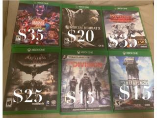 Se venden varios juegos para Xbox One, Puerto Rico
