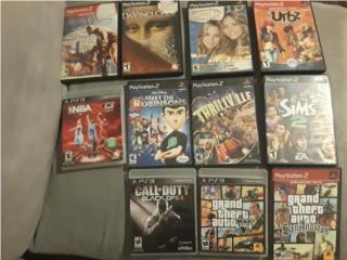 Juegos PS2 y PS3 a la venta, Puerto Rico