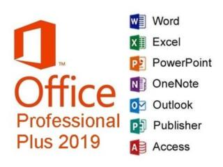 Office Pro Plus 2019/Windows 10/Adobe CC/CorelDraw, Puerto Rico