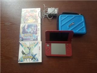 Nintendo 3DS XL con cargador, carrying case y 3 ju, Puerto Rico