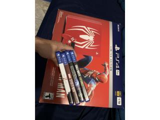 Ps4 pro limited edition + 4 juegos, Puerto Rico