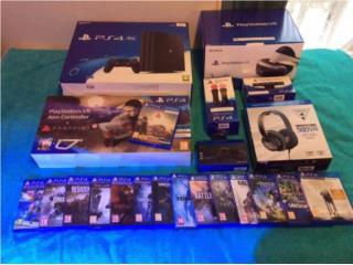 Sony PS4 Pro  console 1TB y VR con 8 juegos $200, Puerto Rico