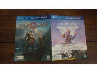 God of War + Horizon Zero Dawn PS4 Juegos Digital, Puerto Rico