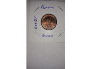Centavo Lincoln 2000 error off center, Puerto Rico