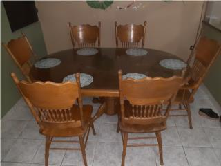 Juego comedor 6 sillas en caova, Puerto Rico