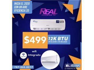 $499 Air Inverter  (20 seer) 12k, Puerto Rico