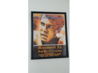 Poster Original del campeon Muhammad Ali 1976 PR, Puerto Rico